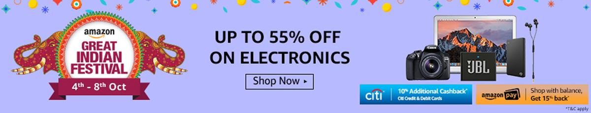 Amazon Great Indian Festival Sale - Electronics Store