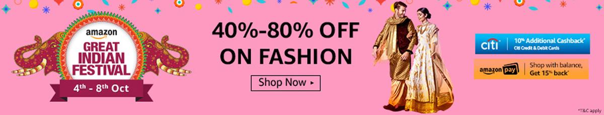 Amazon Great Indian Festival Sale - Fashion