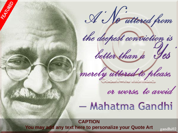 Mahatma Gandhi Quote of the Day